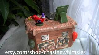"""up"" Keepsake Box By Chasing Whimsies"