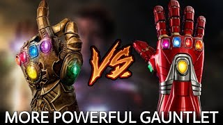 Infinity Gauntlet Vs Iron Nano Gauntlet | Avengers Endgame In Hindi | BlueIceBear