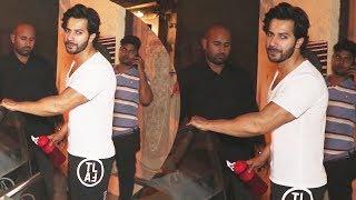 Varun Dhavan Spotted At Juhu Gym Khana