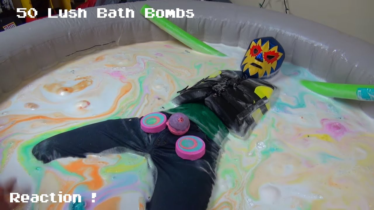 The Water is Sparkling ! 50 Lush Bath Bombs Reaction ! - YouTube