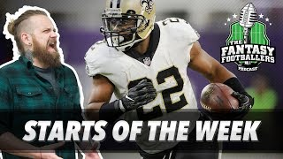 Fantasy football 2017 - starts of the week + week 6 matchups - ep. #456