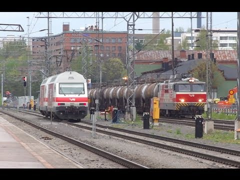 ► Train Spotting in Tampere, Finland / Junat Tampere [17.05.12]
