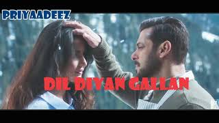 Gambar cover Atif Aslam| Dil Diya Gallan| Full Song| With Lyrics| Salman Khan| Katrina Kaif