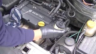 Vauxhall Corsa Oil Change, Spark Plugs & O2 Sensor Replacement