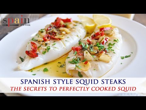 Spanish Style Squid Steaks With Spicy Garlic Sauce