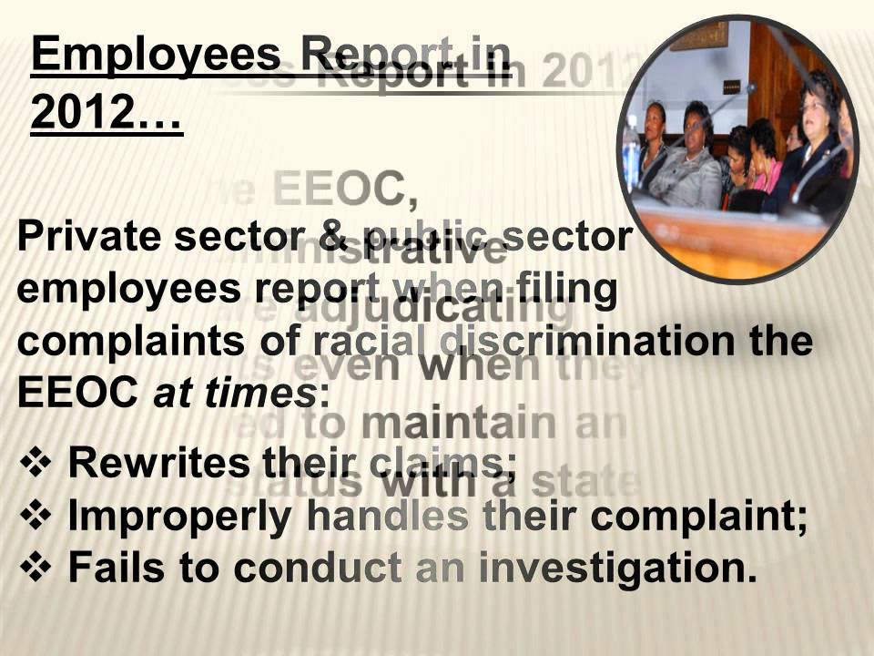 EEOC: THE UGLY TRUTH