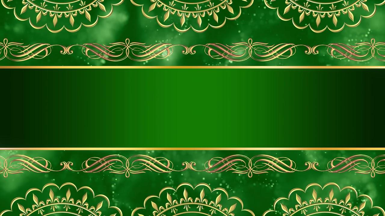 Wedding Invitation Card Design Intro Title Green Background Video Hd