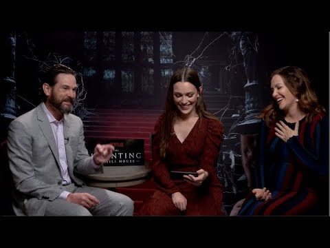 The Haunting Of Hill House Interviews Pedretti Thomas Seigel Huisman Reaser Jackson Cohen Youtube