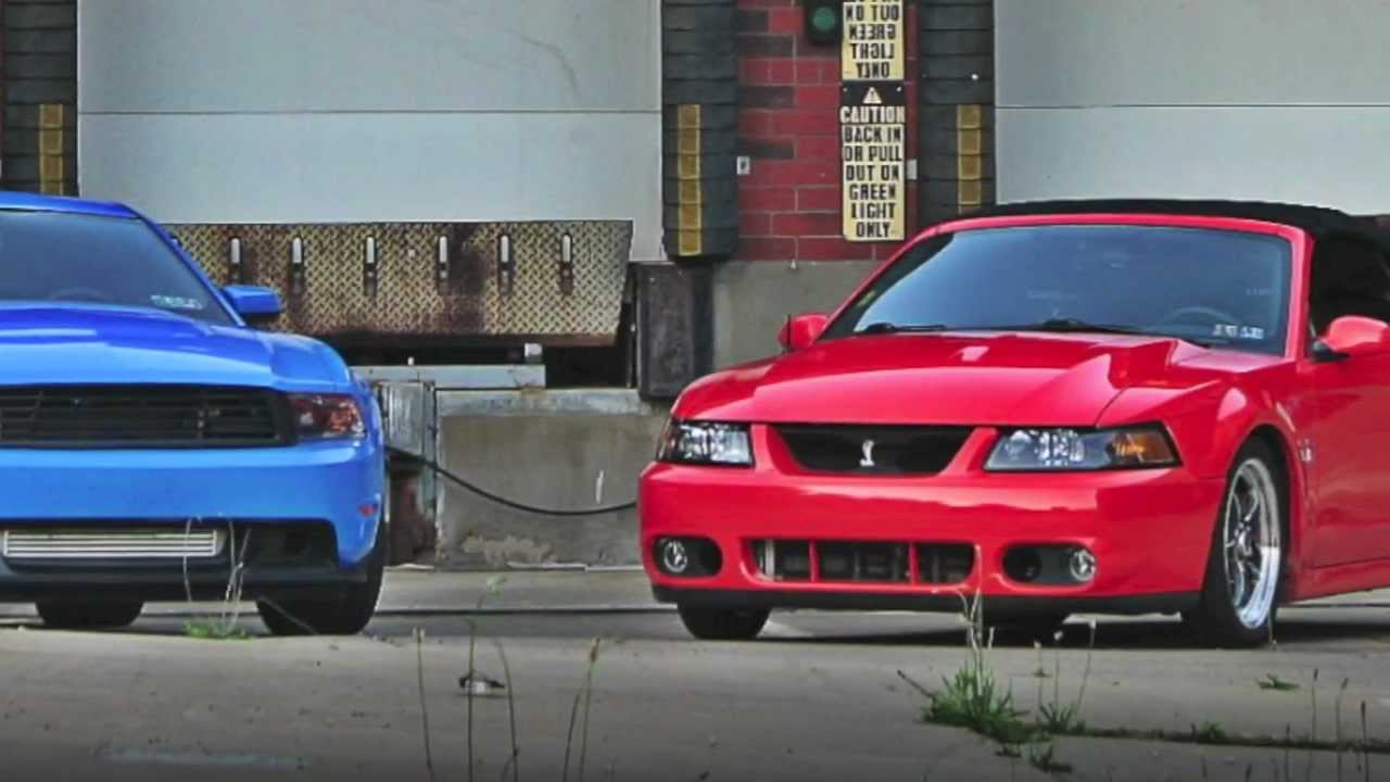 2004 svt cobra vs supercharged 2012 mustang gt youtube