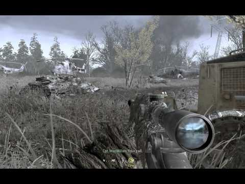 """Call of Duty 4: Modern Warfare 1"", full walkthrough on Veteran, Act 2: Mission 2 - All Ghillied Up"