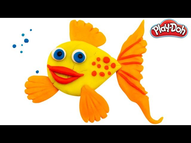 Play Doh Fish | Learn how to make a Fish using Clay Modelling | Kids Learning Videos by PoPoPlay