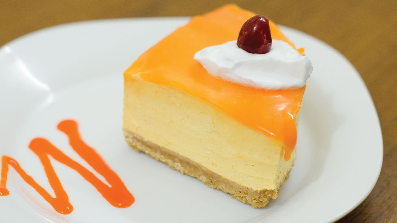 Eggless Mango Mousse Cake L Without Oven Gelatin Agar Agar Youtube