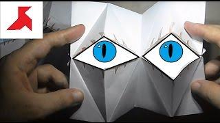 Как сделать два одновременно моргающих глаза из бумаги А4?(Делаем поделку состоящую из 2 глаз способных вместе моргать, сложенных из всего лишь 1 листа бумаги формата..., 2016-09-26T17:24:41.000Z)