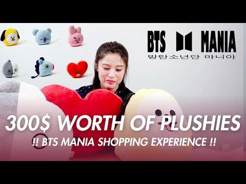 300$ FOR THREE BTS BT21 PLUSHIES!?!? PART 1 (BTSMania)