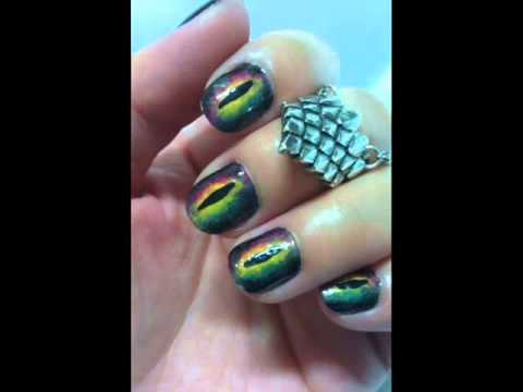 Dragon and The Knight Nail Art Design - Dragon And The Knight Nail Art Design - YouTube