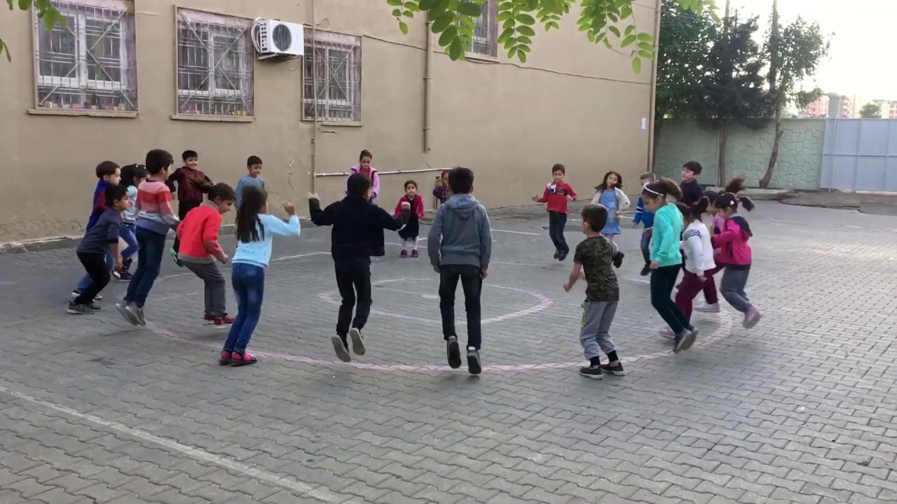 Sosyal Mesafeli Bahçe  Oyunu (İçerde-Dışarıda/in-out)