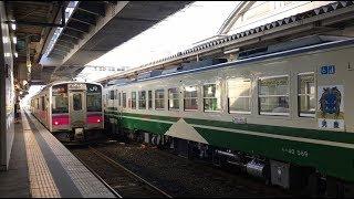JR秋田駅 男鹿線のキハ40系と奥羽本線の701系 JR Ōu Main Line Akita Station (2018.9)