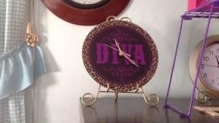 Diva 2 Glass Wall Clock