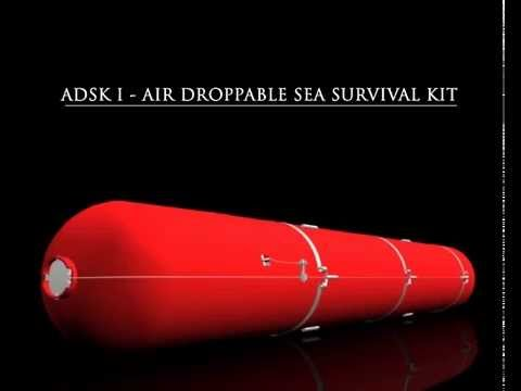 Air droppable sea survival kit (ADSK)