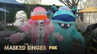The Masked Singers Take On The Blindfold Challenge | Season 1 | THE MASKED SINGER