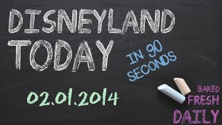 Repeat youtube video Today at Disneyland in 90 seconds | 02-01-2014