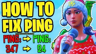 How to *GET* LOWER PING in FORTNITE MOBILE! Best Tips & Tricks On How To STOP LAG! (Fortnite Mobile)