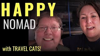 MEET CAROL: A Happy Full-Time, Minimalist Nomad (with 3 Travel Cats!)