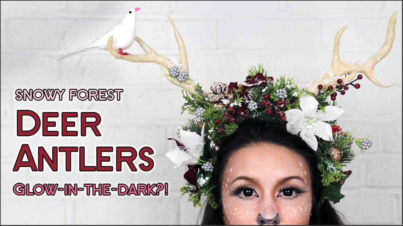 DIY Deer Antlers | GLOW IN THE DARK