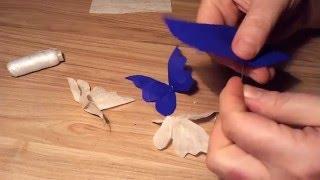 #Бабочки из гофрированной бумаги/Butterflies from the corrugated paper.(бабочка Как сделать бабочку? Easy diy projects. Хотите сделать канал успешнее? Если Ваш канал еще не подключен..., 2015-12-25T11:22:01.000Z)