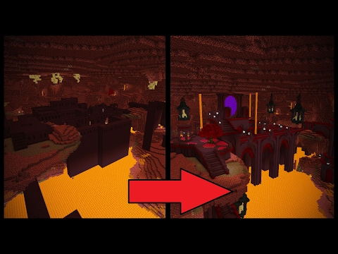 Minecraft - Let's Transform a NETHER FORTRESS