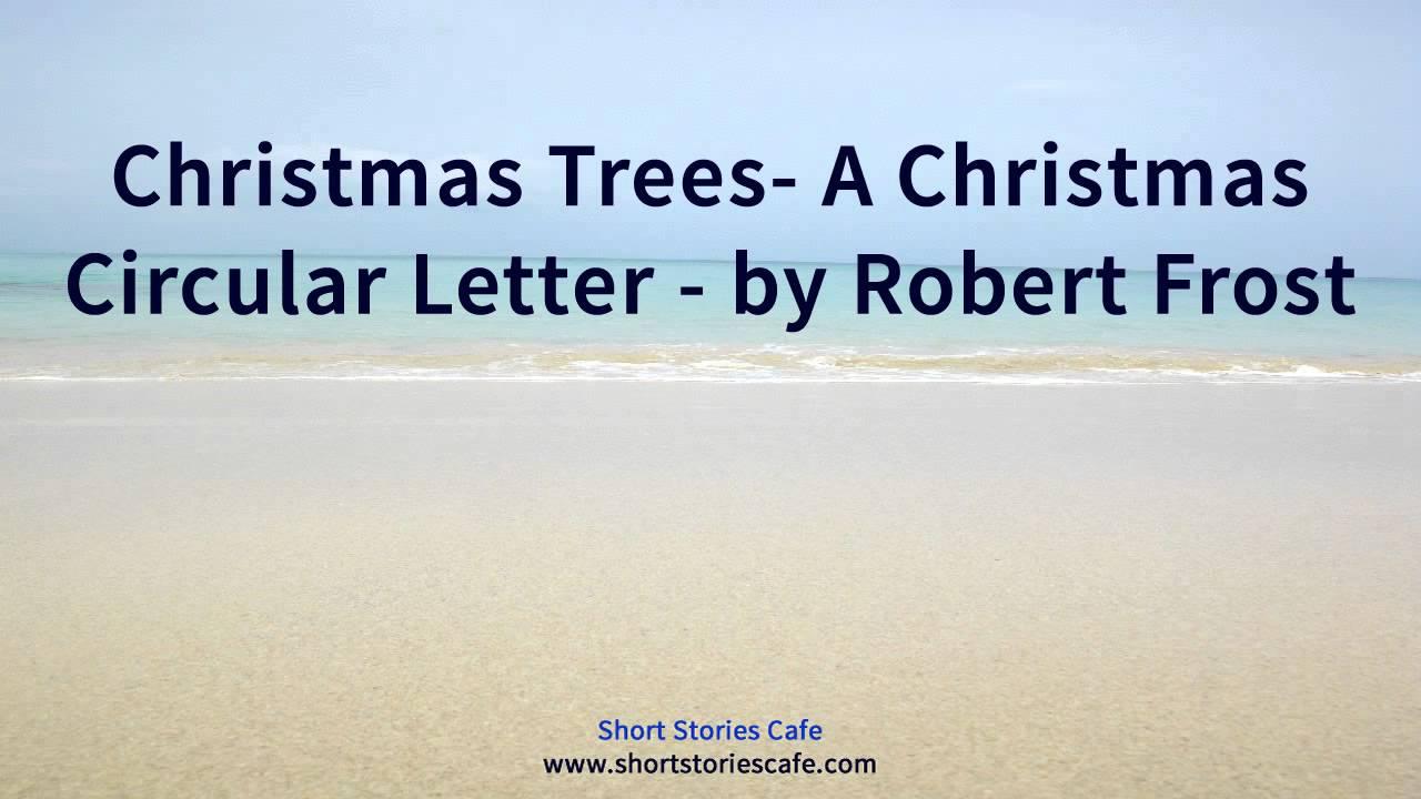 Christmas Trees A Christmas Circular Letter By Robert