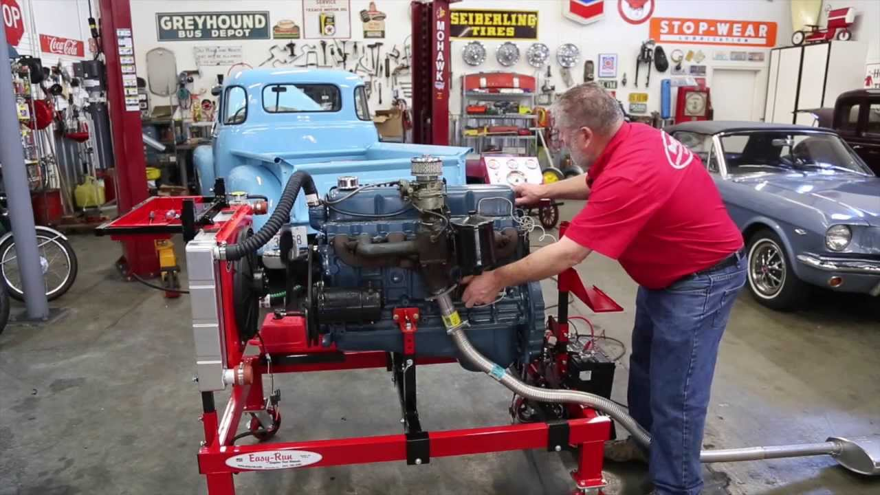 small resolution of chevy 235 6 engine on easy run test stand drager s chevy 235 engine diagram