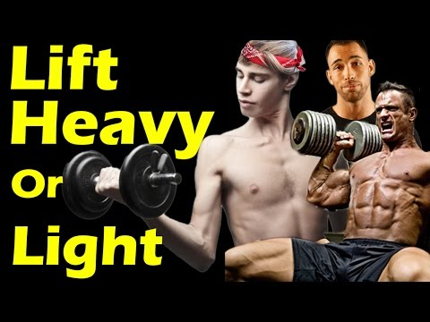 Lift HEAVY or LIGHT to Build Muscle? ➟ #1 Workout & Training Myth Best Way to Build Muscle Mass Fast