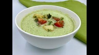 Летний суп из огурцов с помидорами и персиками | Диетический холодный суп | Веганский рецепт