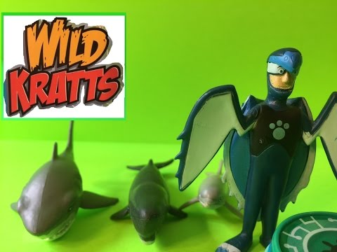 Wild Kratts Sea Turtles Power Toy! Unboxing And Review Of Wild Kratts Deluxe Swimmers Set