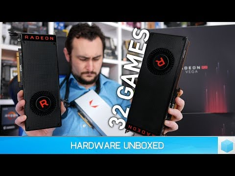 AMD Radeon RX Vega 64 Liquid Cooled, Vega 64 & Vega 56, 32 Game Benchmark