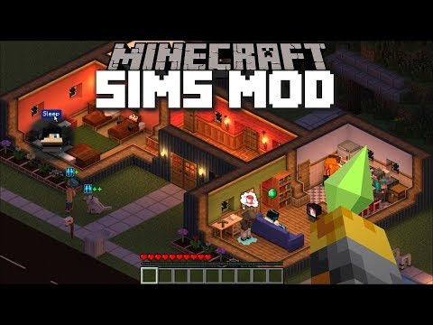 Minecraft SIMS MOD / BECOME KING OF THE VILLAGE AND GROW THE SIMS CITY!! Minecraft