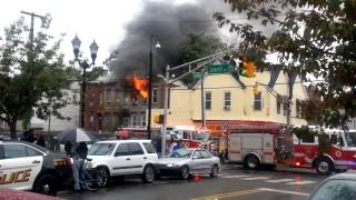 Fire on Jewett Ave in Jersey City, New Jersey.