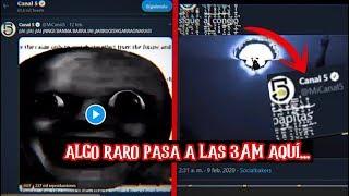 ALGO RARO PASA EN EL CANAL 5 A LAS 3AM 😥 TODOS LOS EXTRAÑOS VIDEOS QUE DESAPARECEN HORAS DESPUÉS YouTube Videos