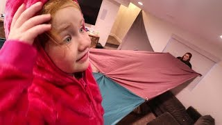 Giant Basement Fort Jenny Has A Crazy Idea For Me And Adley Happy Thanksgiving