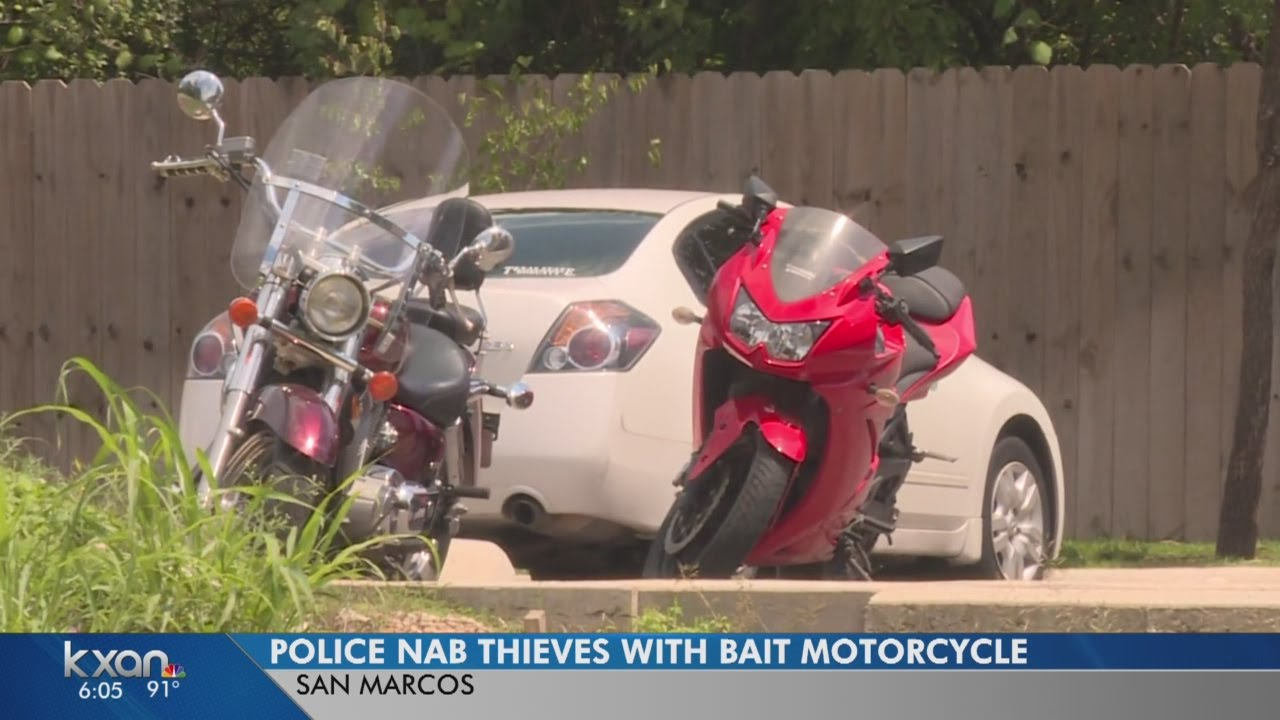 San Marcos Police catch thieves using bait motorcycle