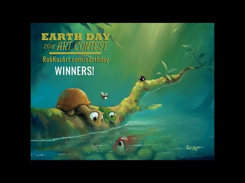 2018 Earth Day Art Contest Winners Announced With Artist Rob Kaz