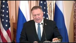 Прямой эфир: пресс-конференция госсекретаря США Помпео и министра иностранных дел РФ Лаврова