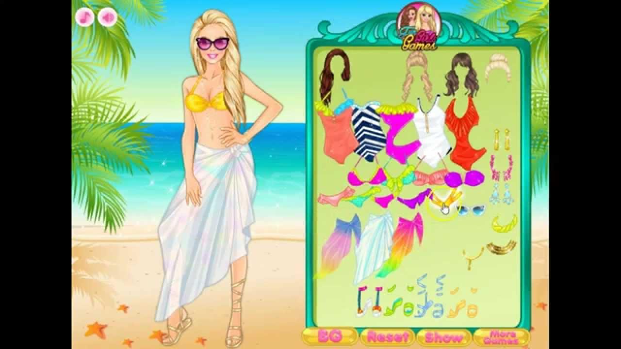 Barbie At Beach Dress Up