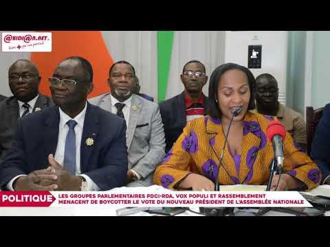 Les groupes parlementaires PDCI RDA, Vox populi et Rassemblement menacent de boycotter