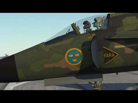 DCS: AJS-37 Startup, Taxi & Take Off
