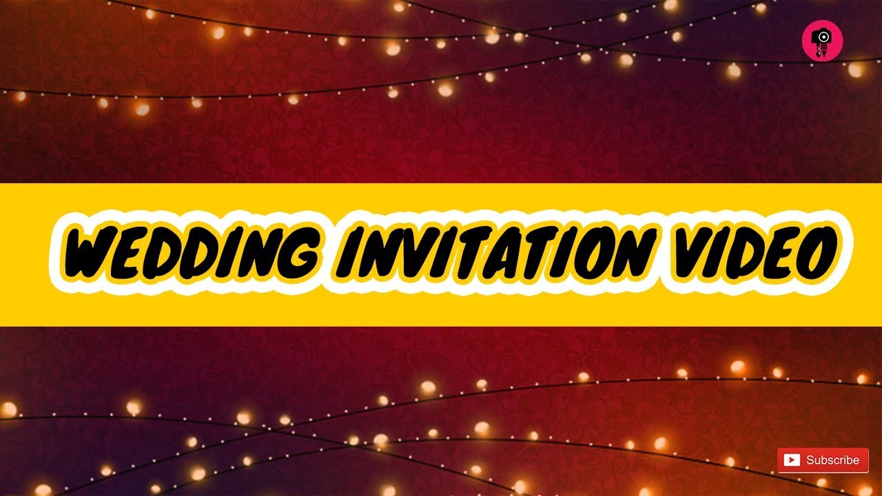 WEDDING INVITATION VIDEO - YouTube