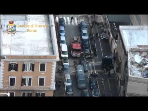 Roma, Guardia di Finanza   operazione anticontraffazione al Pigneto