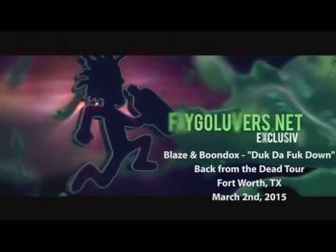 """Blaze Ya Dead Homie & Boondox - """"Duk Da Fuk Down"""" LIVE in Fort Worth, TX"""