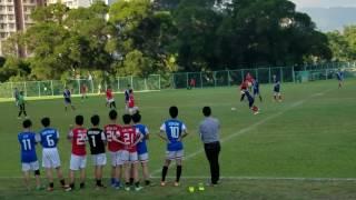 2016學界足球D3 嗚遠(藍) vs creative(紅